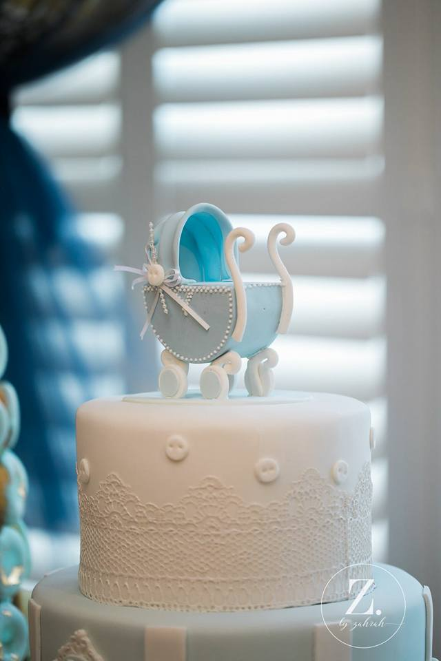Elegant Blue And Gold Prince Baby Shower Baby Shower