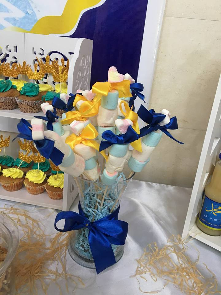 gold-navy-royal-prince-baby-shower-ideas-candy-bar