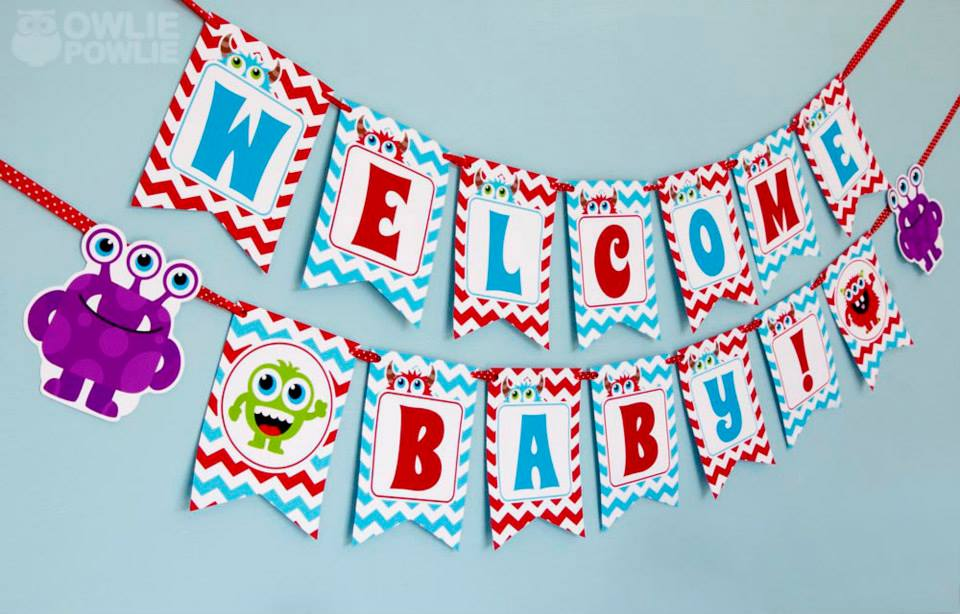 monster-bash-baby-shower-banner