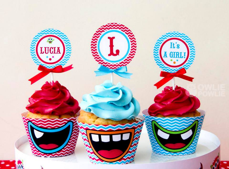 monster-bash-baby-shower-cupcakes