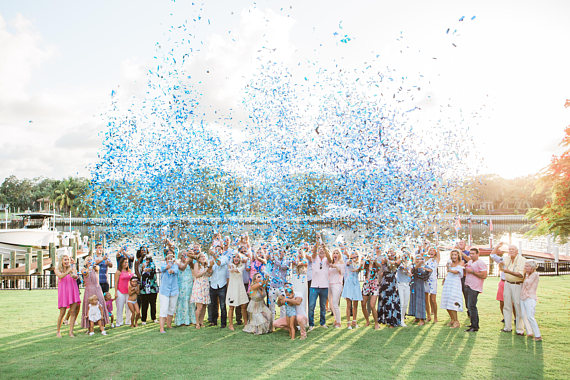 bows-or-bowties-gender-reveal-confetti-cannon