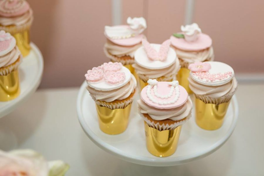 charming-blush-garden-baby-shower-gold-cupcakes