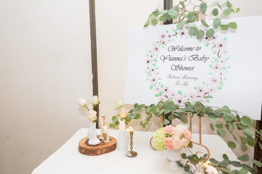charming-blush-garden-baby-shower-welcome-sign