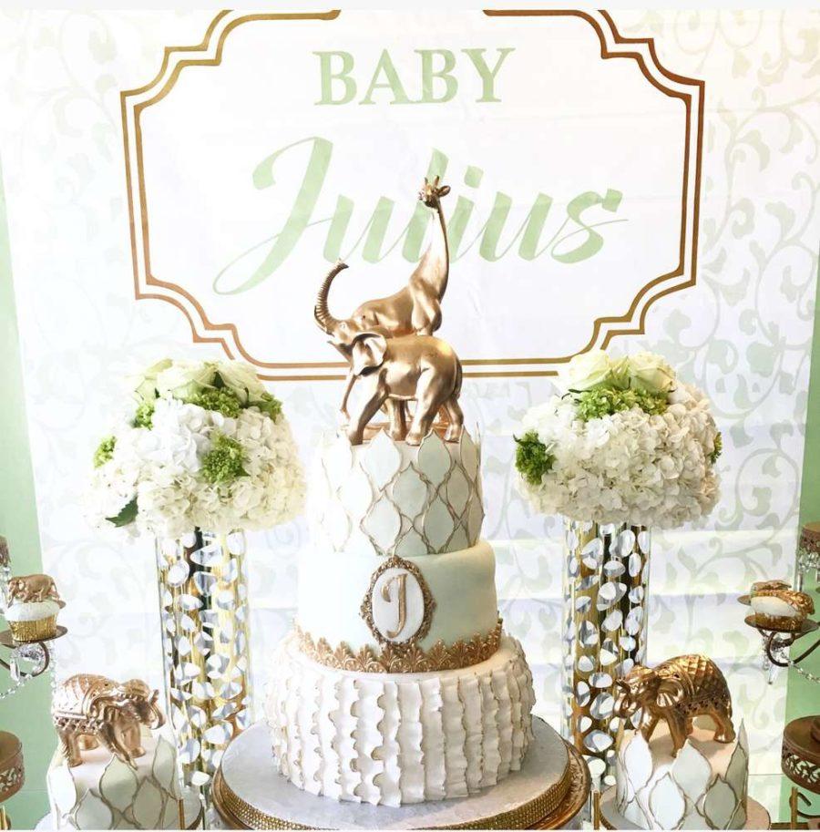 golden-glam-safari-baby-shower-cake