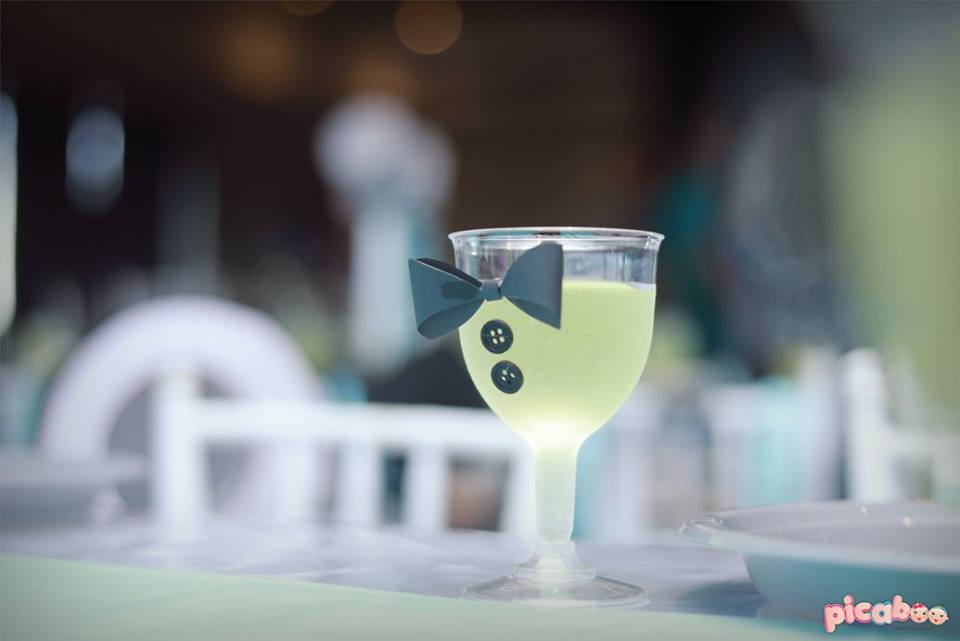 little-man-first-party-drink-with-bowtie-decor