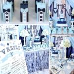 Blue and Silver Little Man's First Celebration