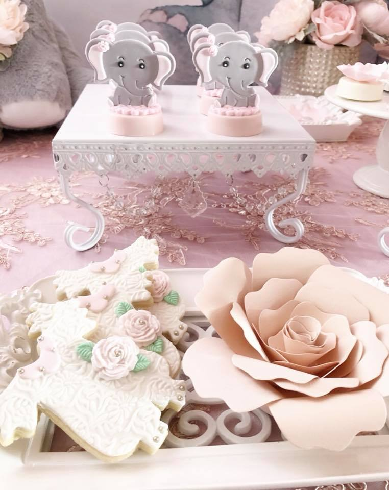 pink-and-gray-elephant-baby-shower-paper-flower