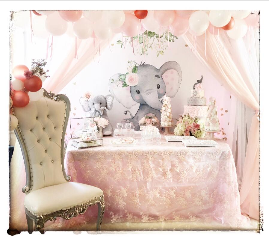 pink-and-gray-elephant-baby-shower-pastel-theme