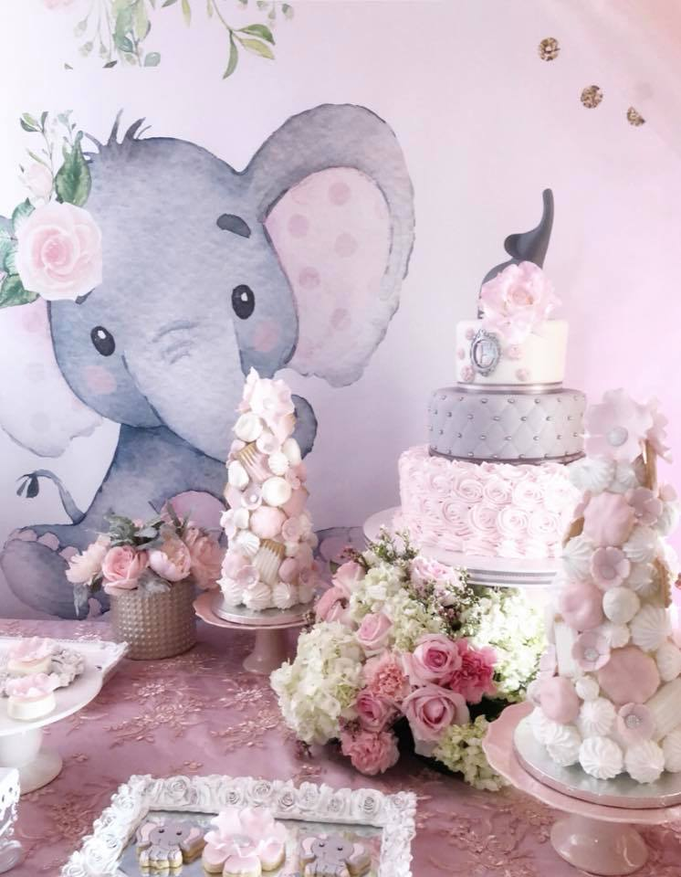 pink-and-gray-elephant-baby-shower-treat-towers