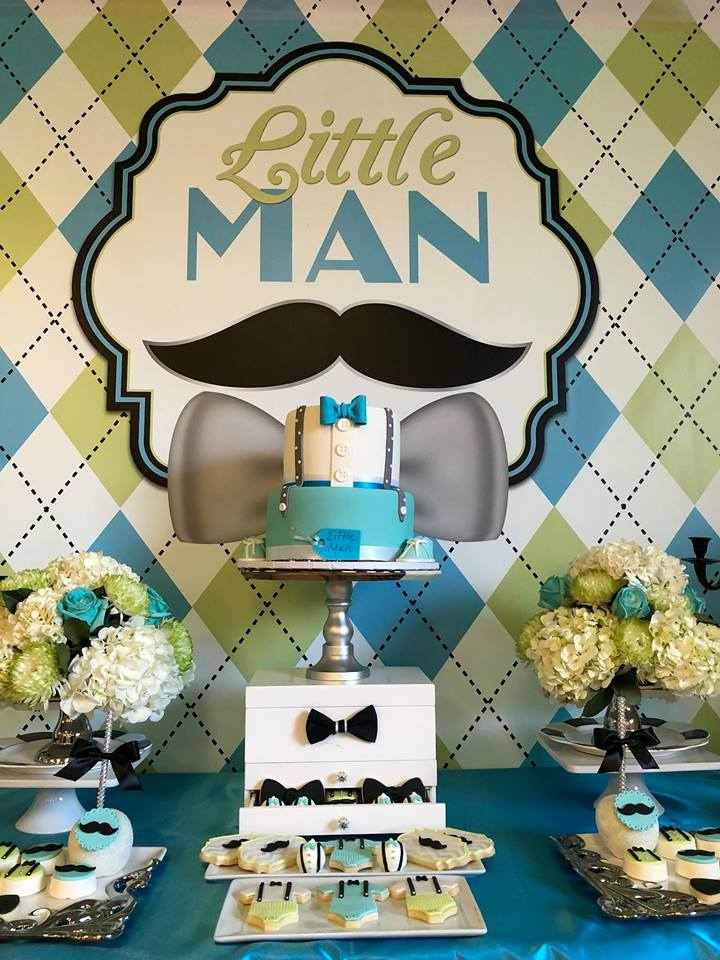 sophisticated-little-man-baby-shower-bowtie-decor
