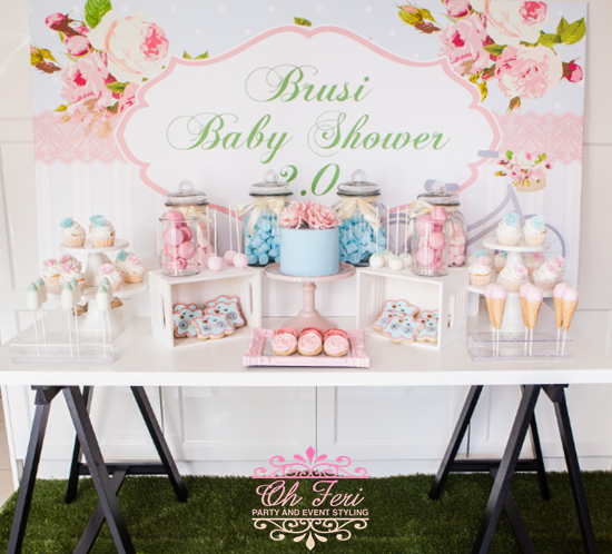 floral-and-bicycle-baby-shower
