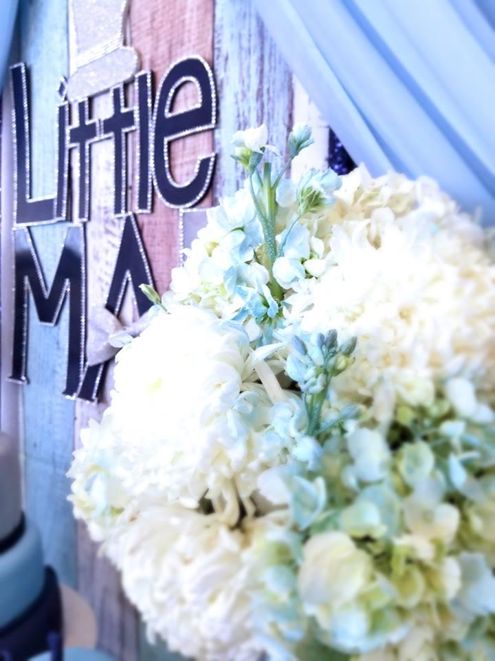 little-man-first-celebration-flowers