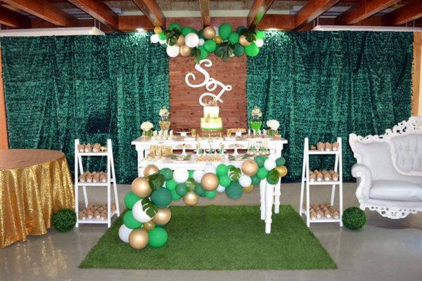 gold-and-hunter-green-safari-baby-shower