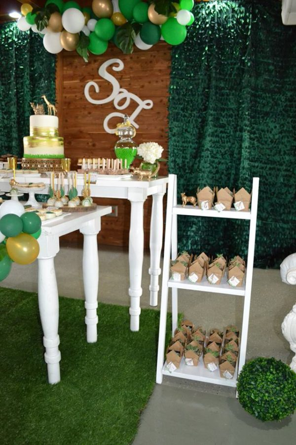 gold-and-hunter-green-safari-baby-shower-gifts