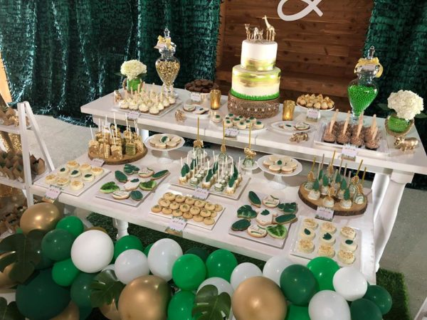 gold-and-hunter-green-safari-baby-shower-party