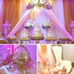 Gold and Pink Princess Baby Shower