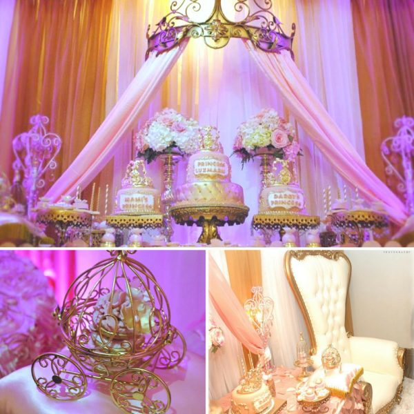 gold-and-pink-princess-baby-shower
