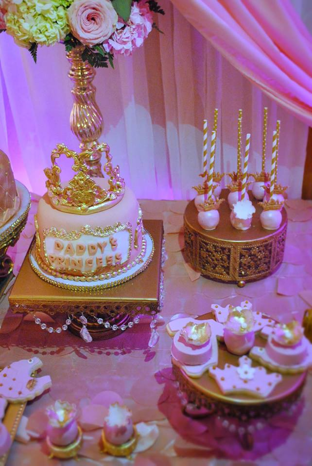 gold-and-pink-princess-baby-shower-cake