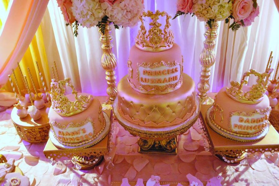 gold-and-pink-princess-baby-shower-cakes