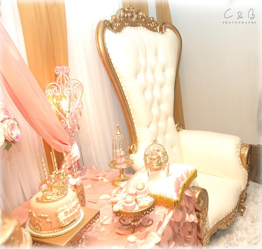 gold-and-pink-princess-baby-shower-chair