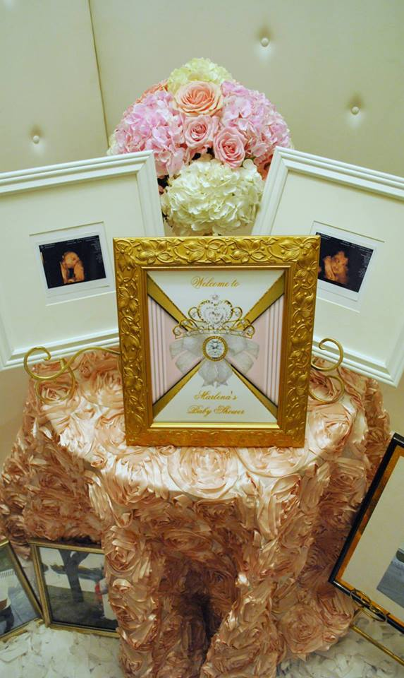 gold-and-pink-princess-baby-shower-framed-art