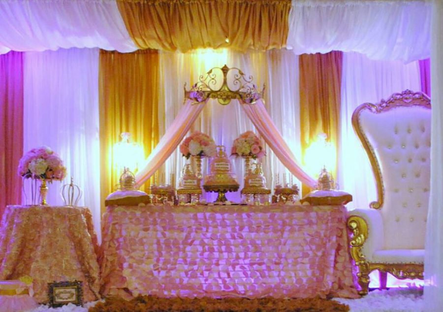 gold-and-pink-princess-baby-shower-snack-table