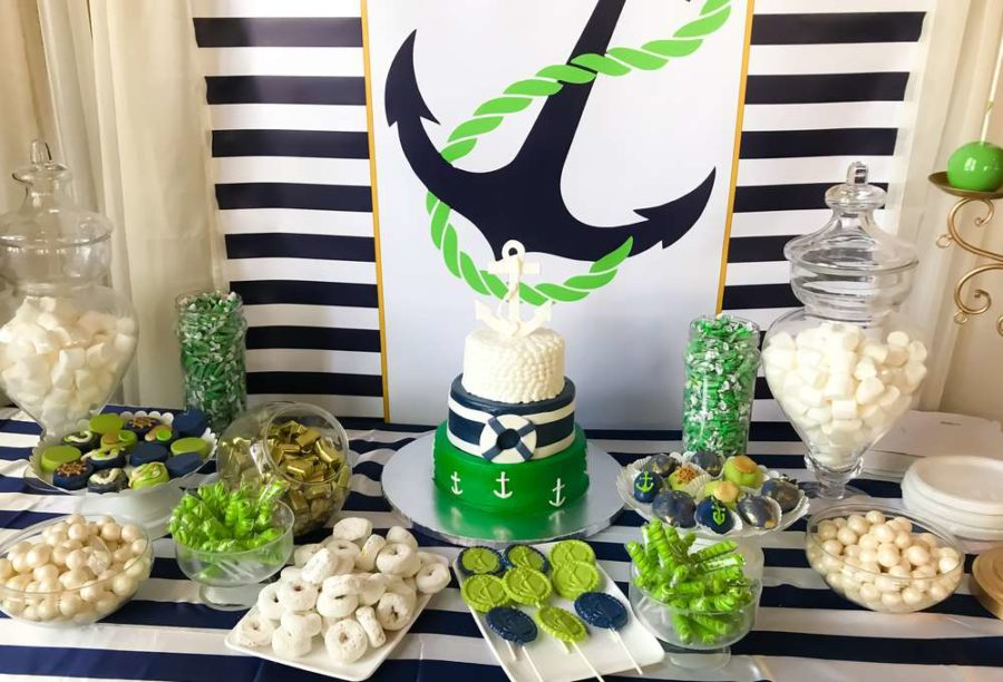 modern-chic-nautical-shower-dessert-table