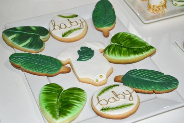 gold-safari-baby-shower-cookies-palm-leaf