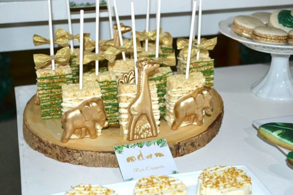 gold-safari-baby-shower-rice-krisps