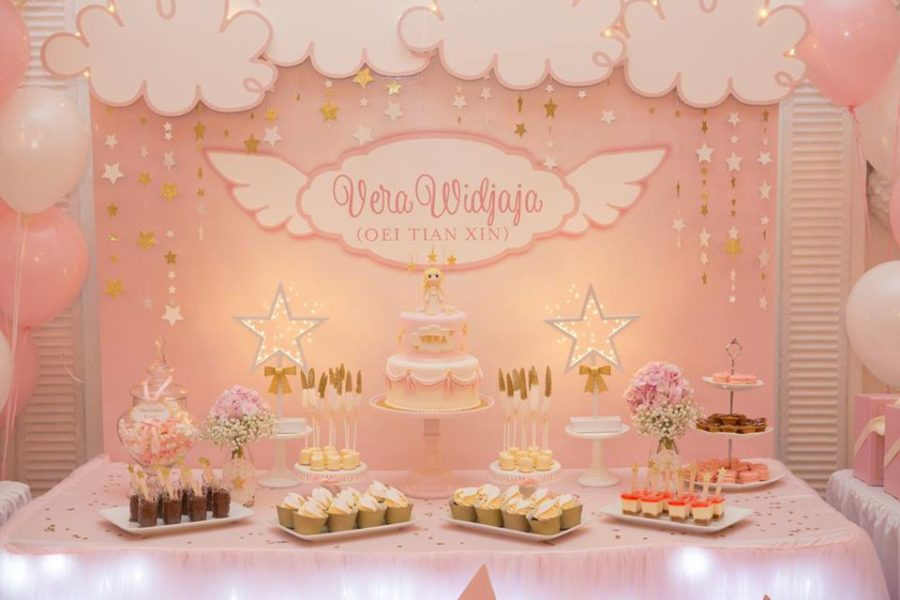 angelic-pink-baby-shower-dessert-table