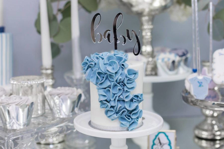 blue-and-silver-elephant-baby-shower-cake