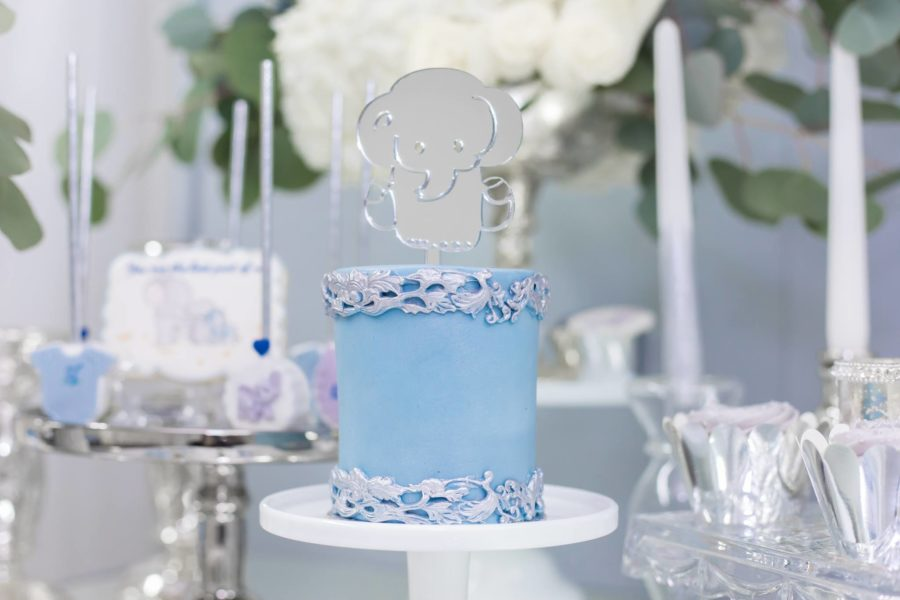 blue-and-silver-elephant-baby-shower-mini-cake