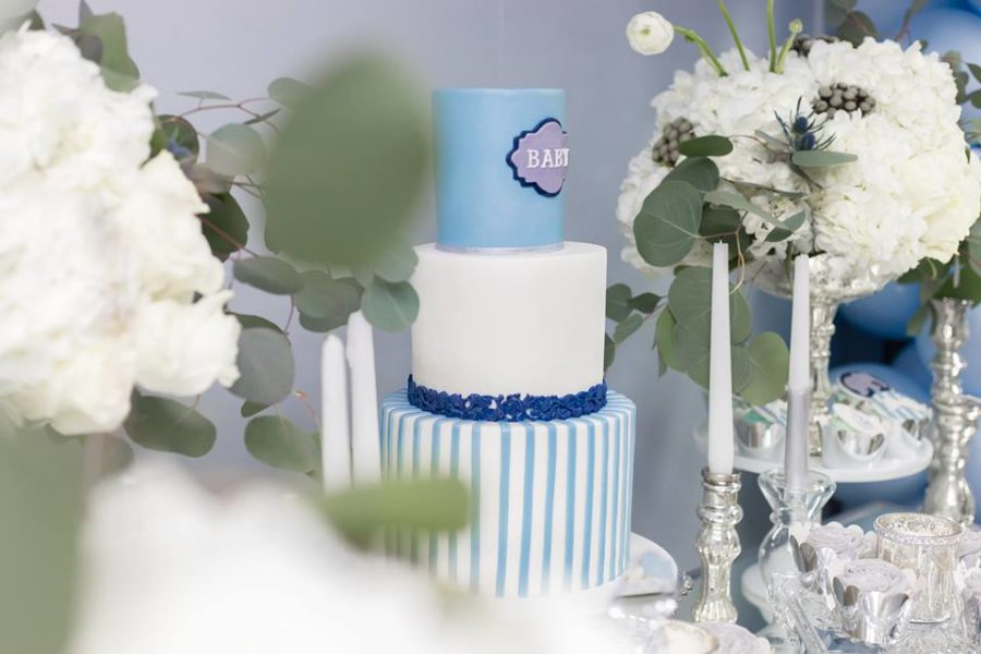 blue-and-silver-elephant-baby-shower-tiered-cake