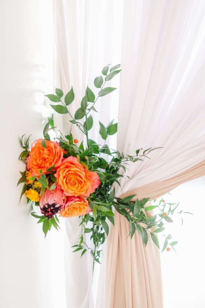 whimsical-little-miss-baby-shower-orange-pink-flowers