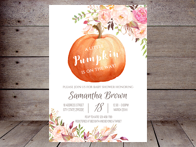 Boho fall baby shower invitation
