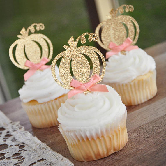 little-pumpkin-cupcake-topper-in-gold-and-pink