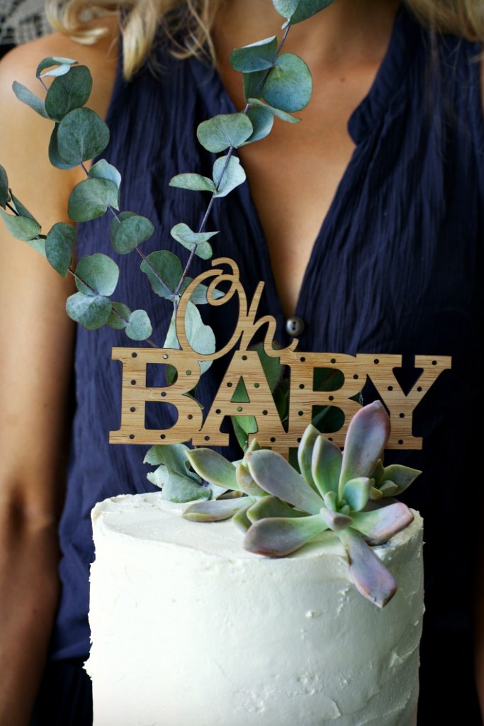 bohemian-style-baby-shower-cake