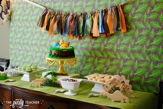 dinosaur-galore-baby-shower-food-table