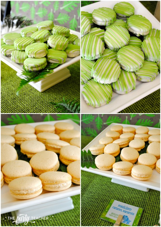 dinosaur-galore-baby-shower-macarons