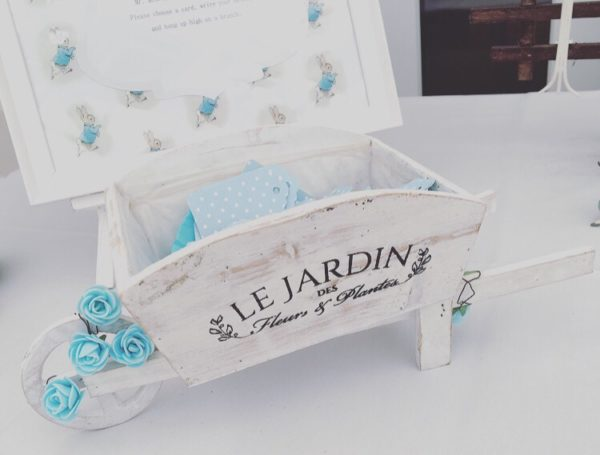 peter-rabbit-baby-shower-decoration-with-wheel-barrow