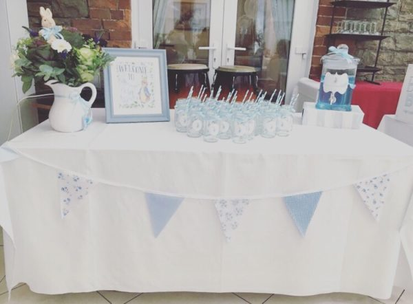 peter-rabbit-baby-shower-drink-station-with-adorable-banner