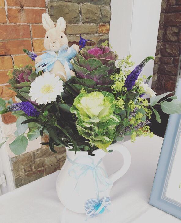 peter-rabbit-party-centerpiece-cabbage-vegetable-floral-arragement