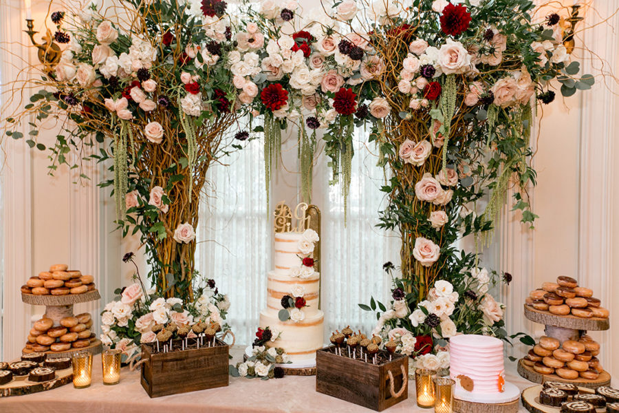 elegant-woodland-baby-shower-dessert-table