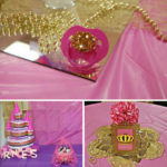 Golden and Pink Baby Shower