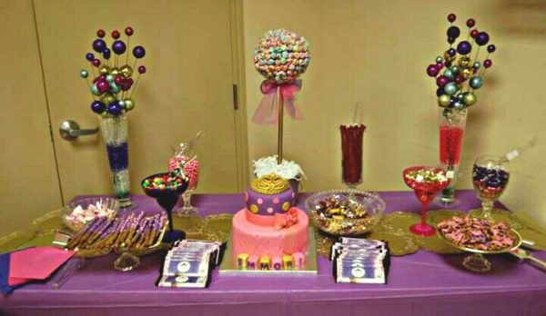 golden-and-pink-princess-baby-shower-dessert-table-with-cake