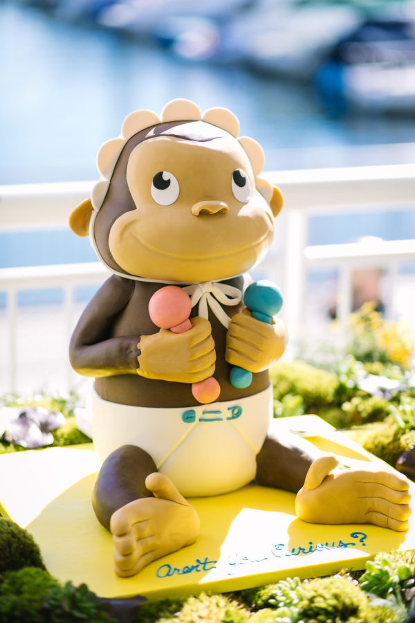 17-modern-curious-george-baby-gender-reveal-cake