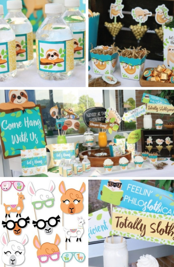 sloth-baby-shower-ideas
