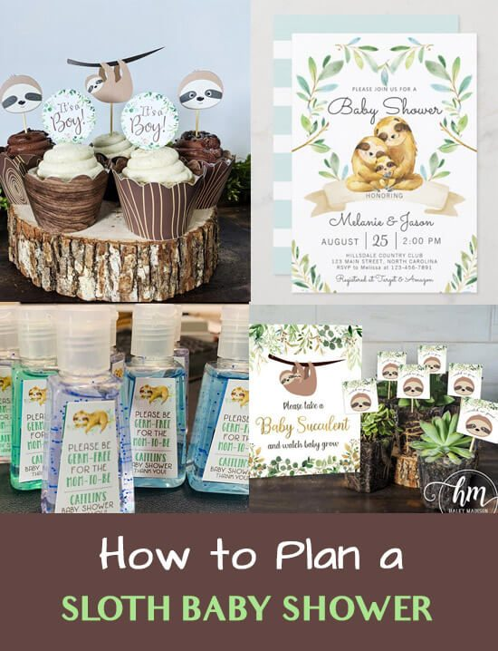 how to plan a sloth baby shower