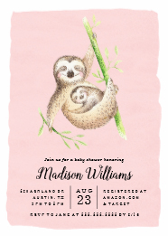 pink-hanging-sloth-baby-shower-invites