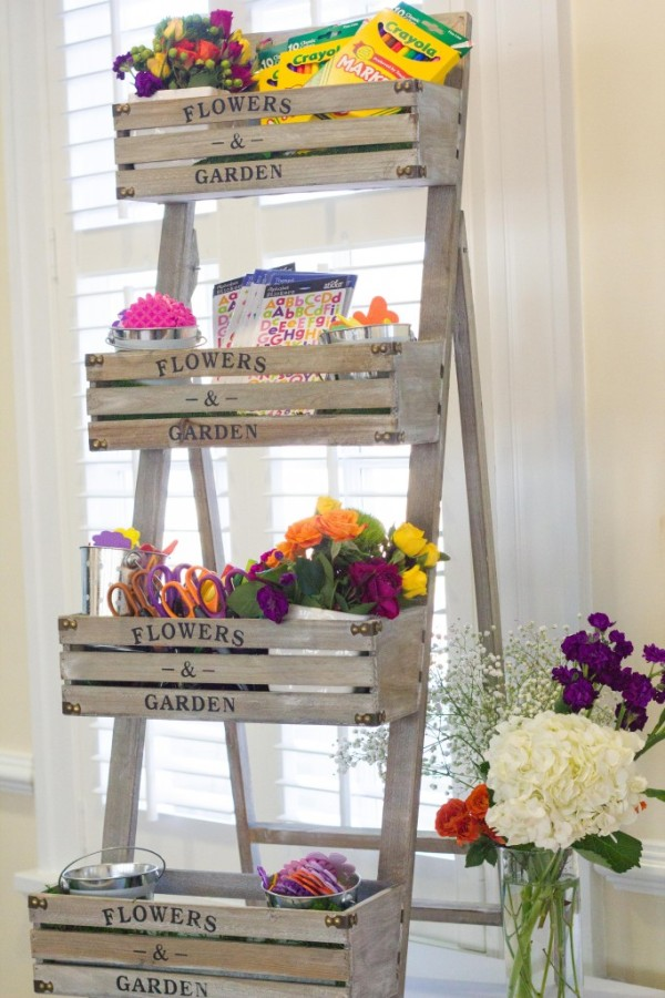 bold-and-bright-baby-shower-flower-stand